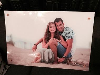 Foto op ECHT glas  |  Fotoshoot Spanje 60x90cm
