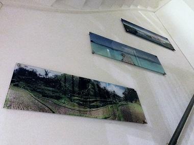 Foto op ECHT glas  |  Panorama kleur trapgat